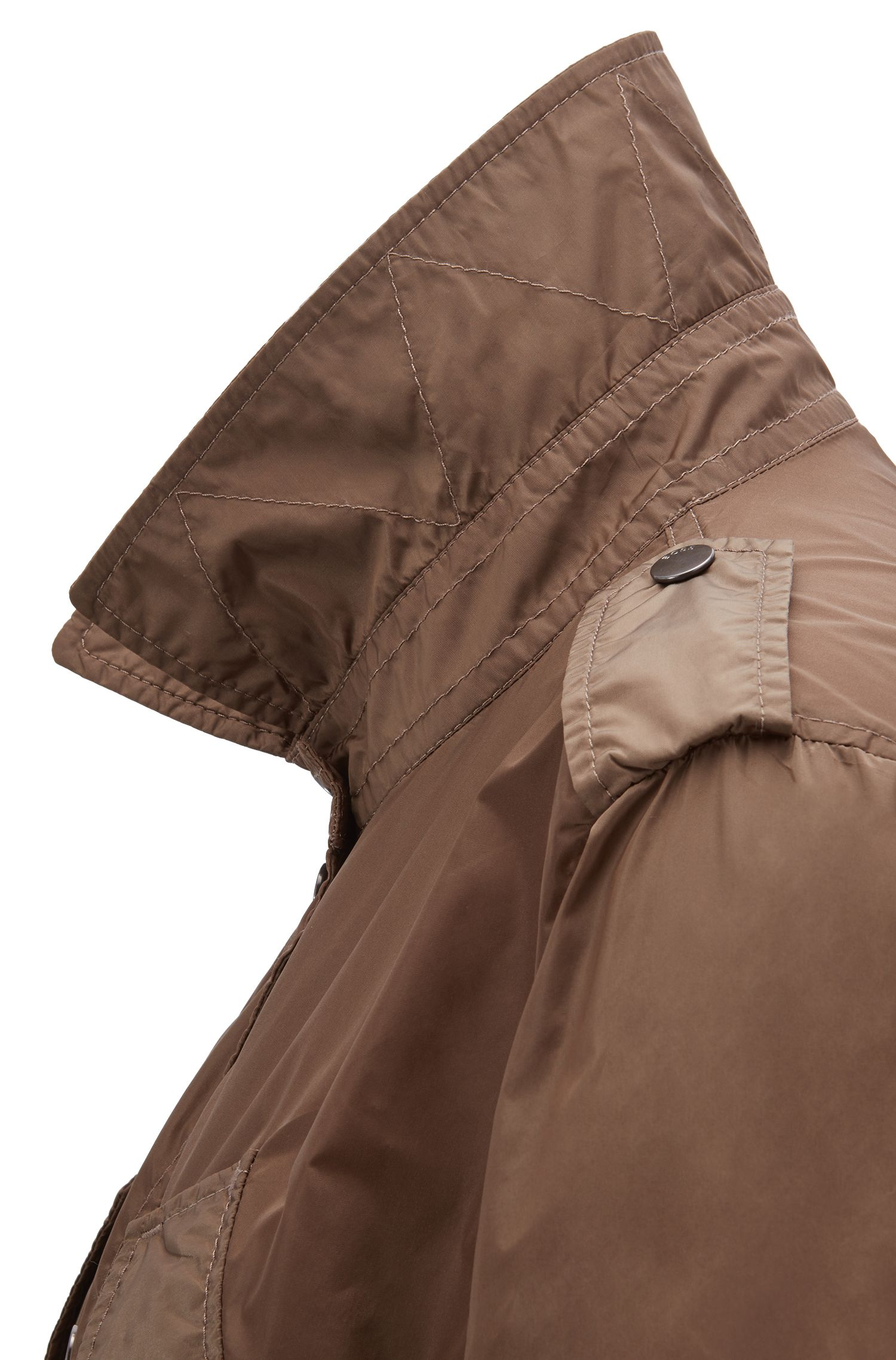 Water-repellent field jacket with fitted waist, Open Grey