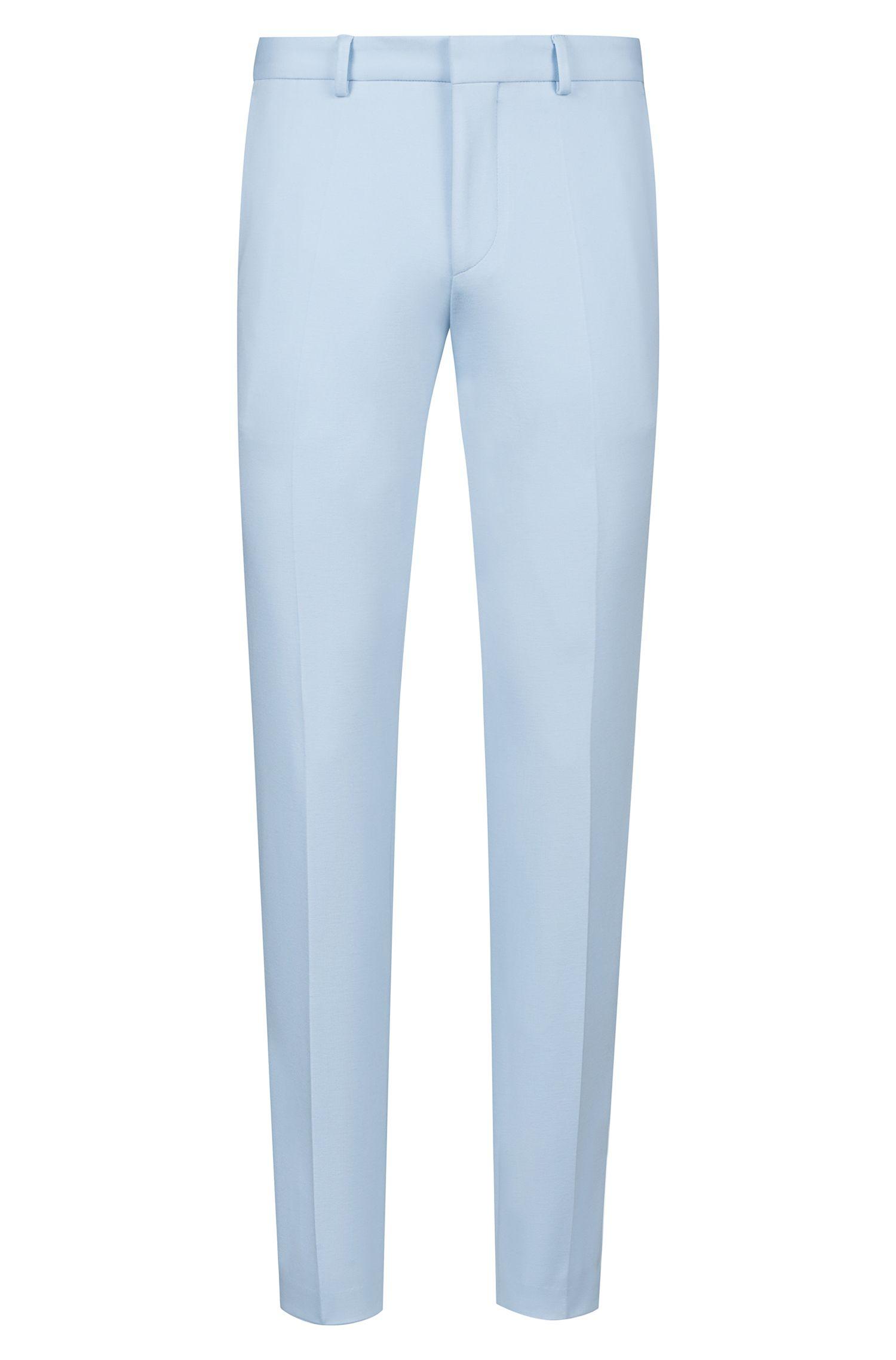 Extra slim-fit kostuum van middelzware stretchjersey, Lichtblauw