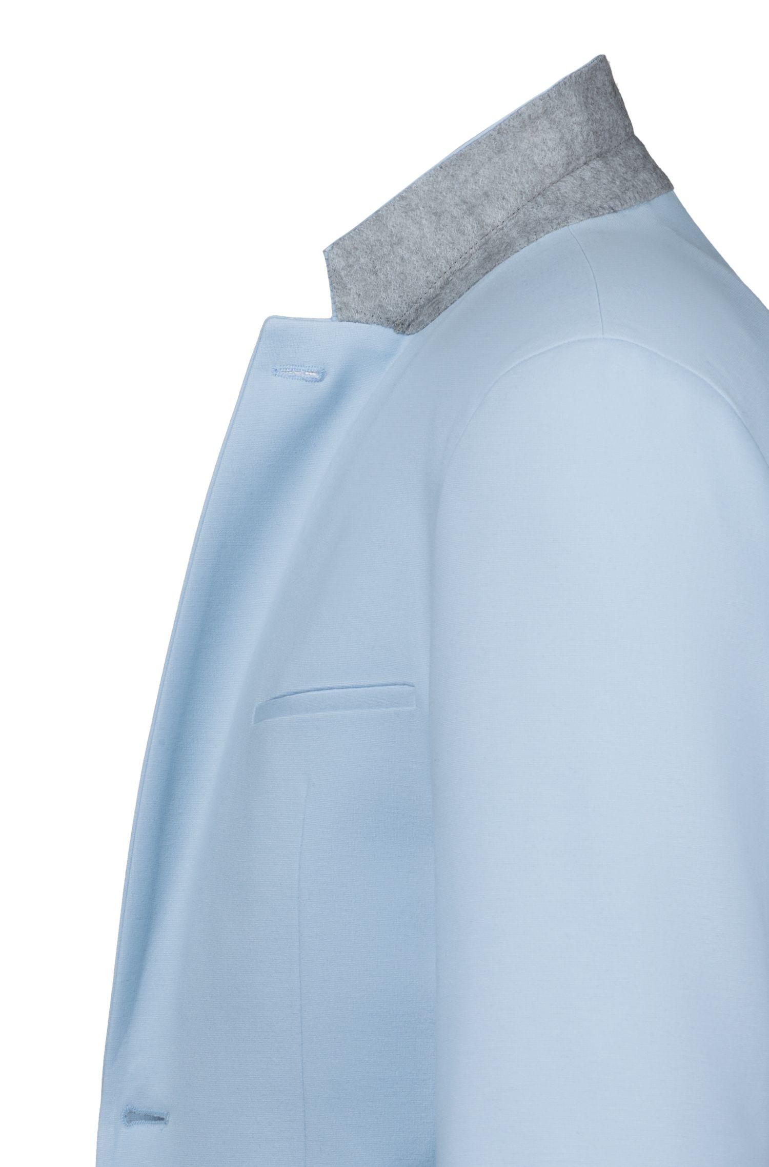 Extra Slim-Fit Anzug aus mittelschwerem Stretch-Jersey, Hellblau