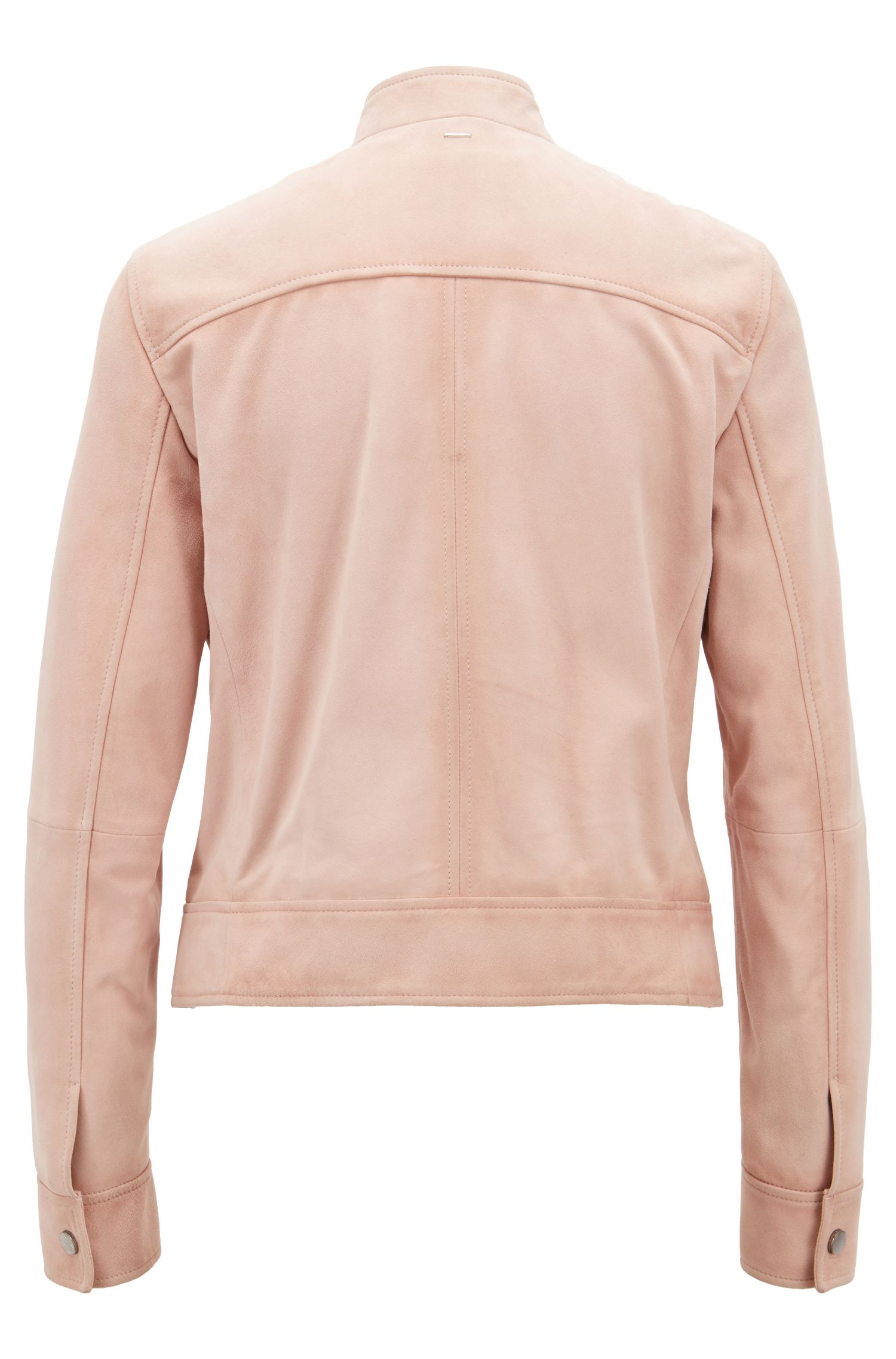 Hugo Boss - Bomber jacket in suede leather with patch pockets - 3