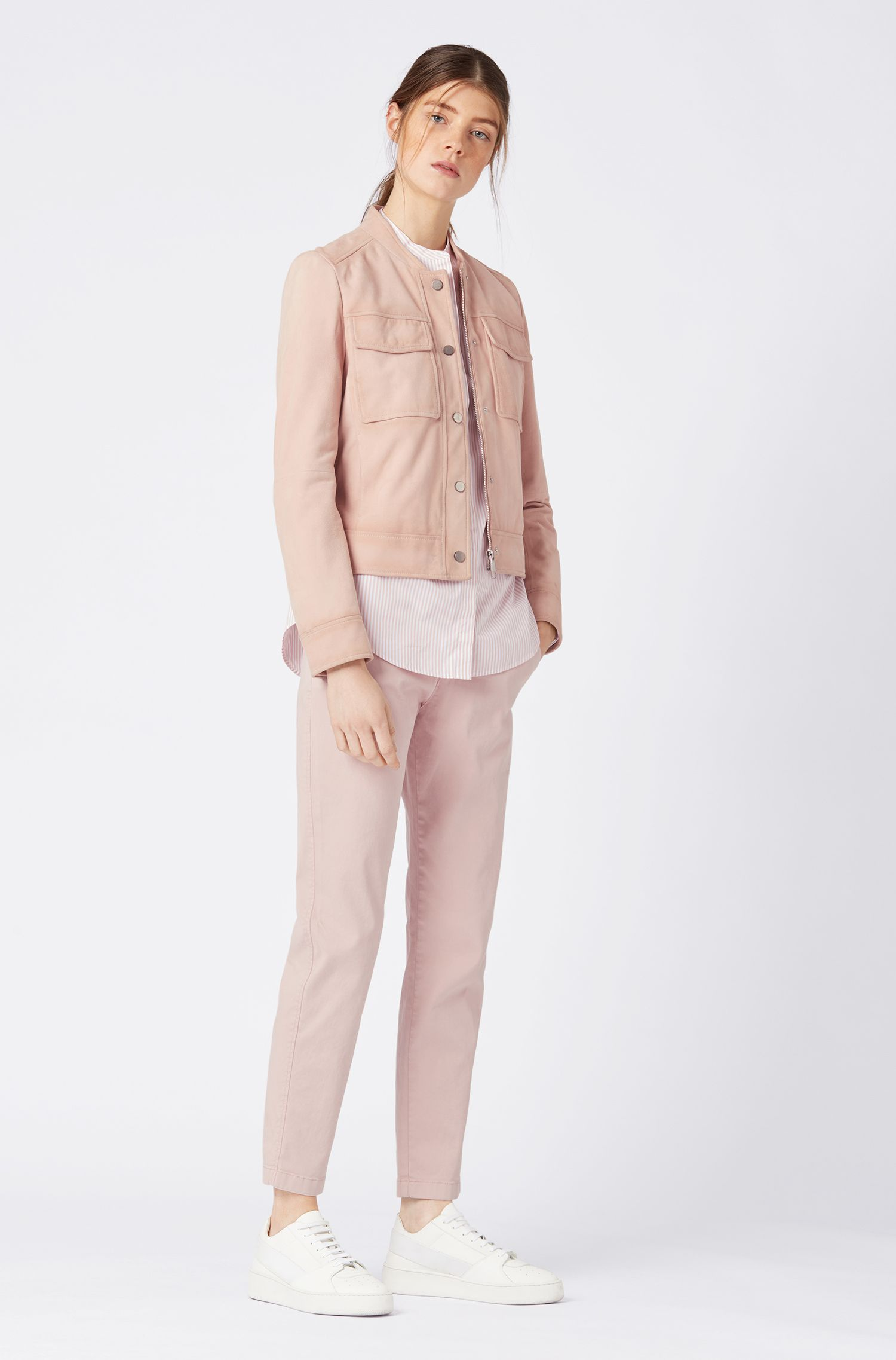 Hugo Boss - Bomber jacket in suede leather with patch pockets - 2