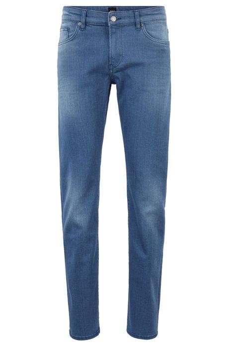 Slim-Fit Jeans aus Strech-Denim, Blau