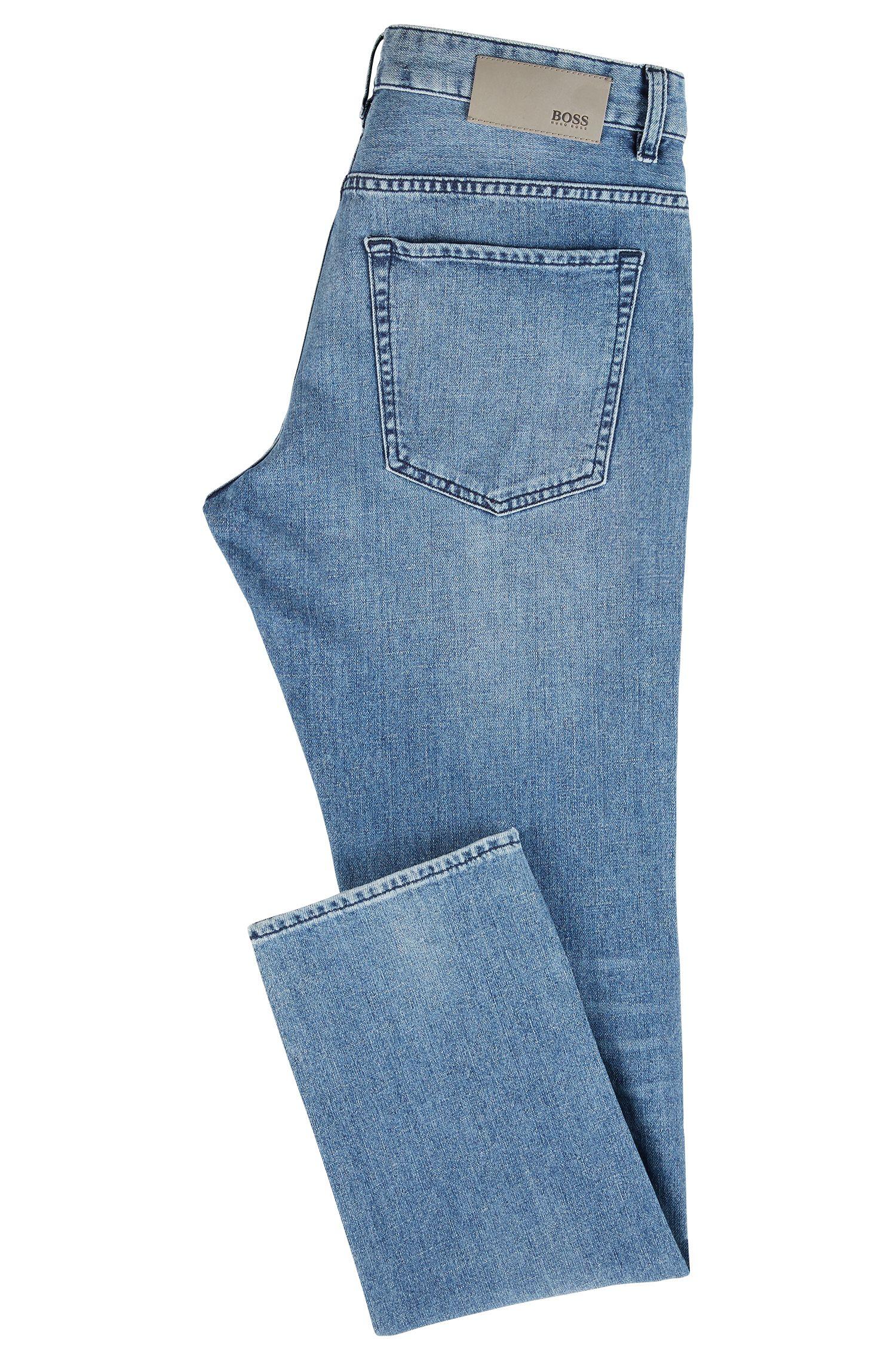 Jean Slim Fit bleu moyen en denim italien BCI, Turquoise