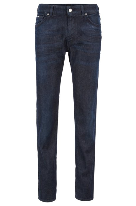 Vaqueros regular fit en denim italiano, Azul oscuro