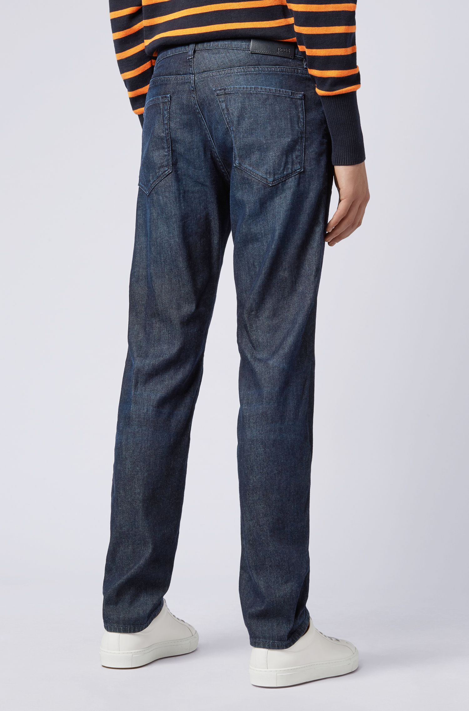 Jean Regular Fit en denim italien BCI, Bleu foncé