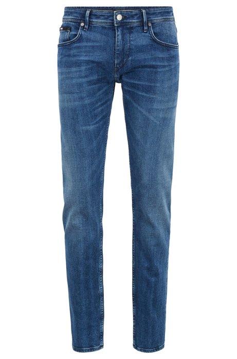 Jeans extra slim fit in denim elasticizzato con cimosa prodotto in Italia, Blu