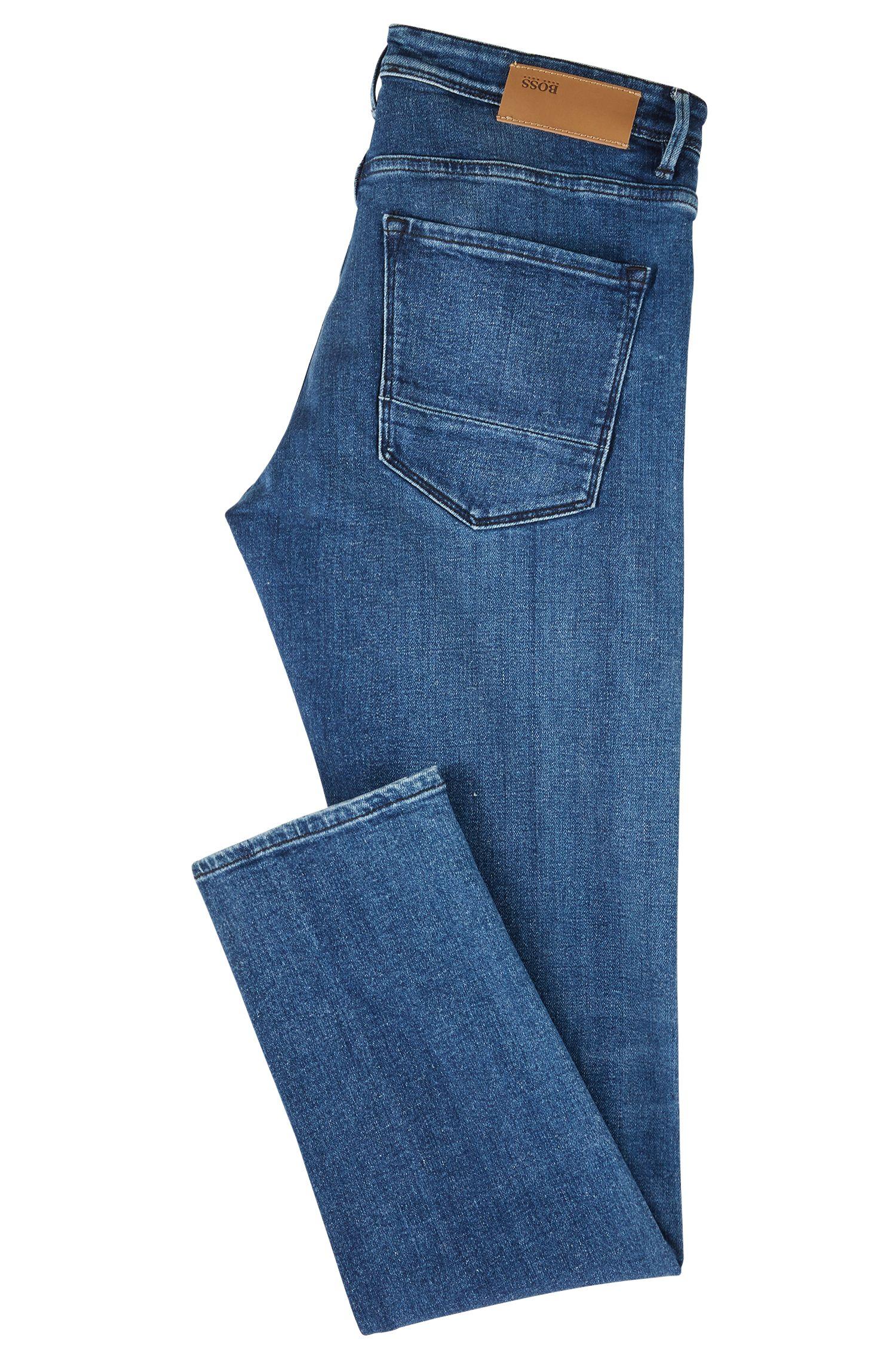 Jean Extra Slim Fit en denim selvedge stretch italien, Bleu