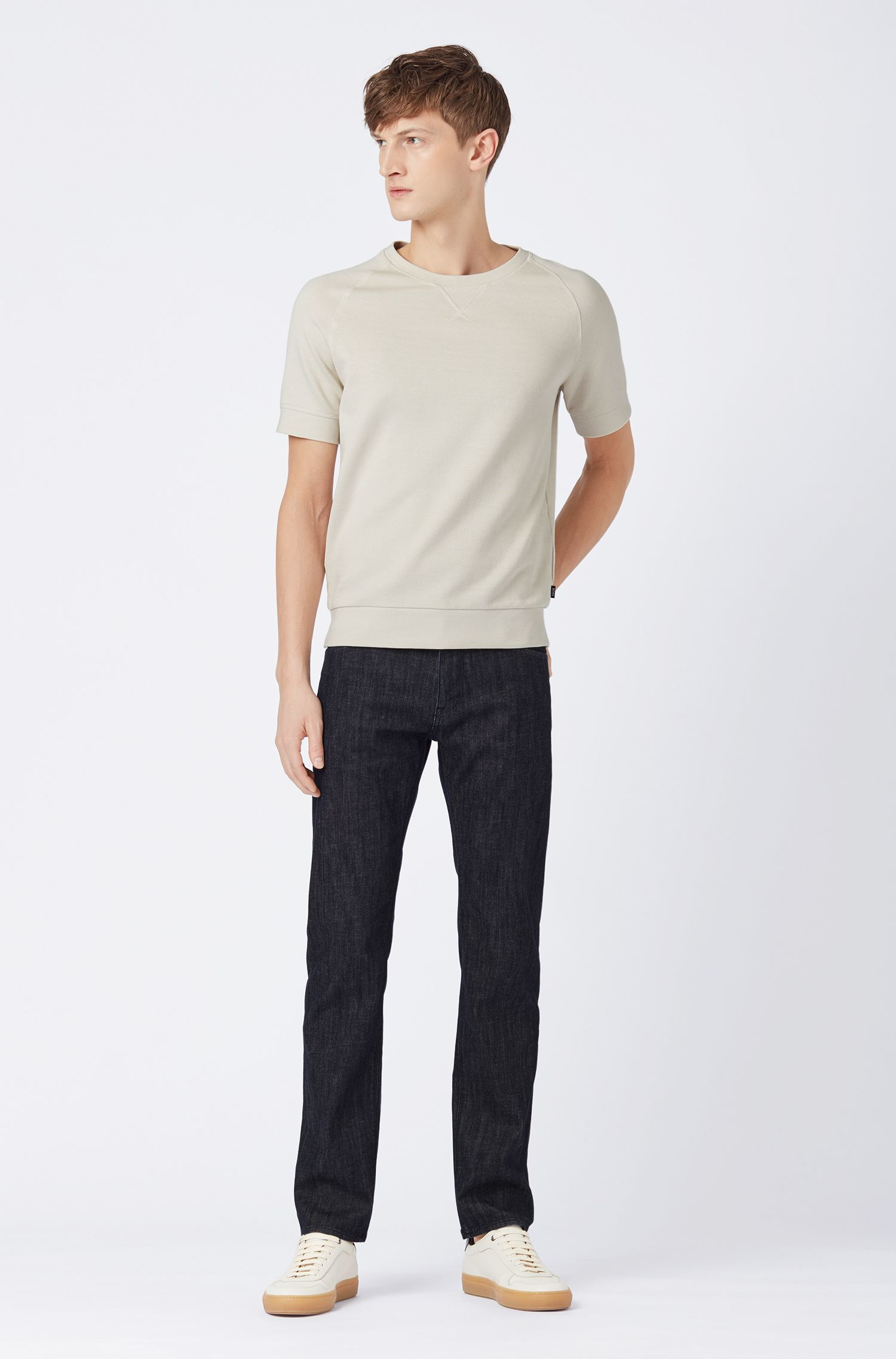 Jeans regular fit in denim Candiani ecosostenibile, Blu scuro