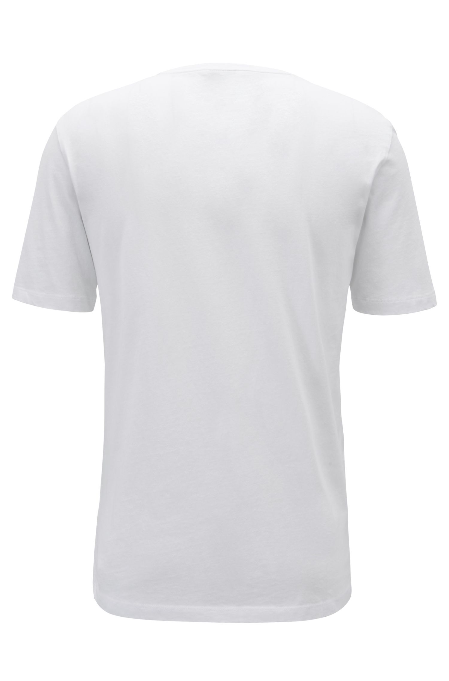 T-shirt Relaxed Fit à message, en jersey de coton recot²® éco-responsable, Blanc