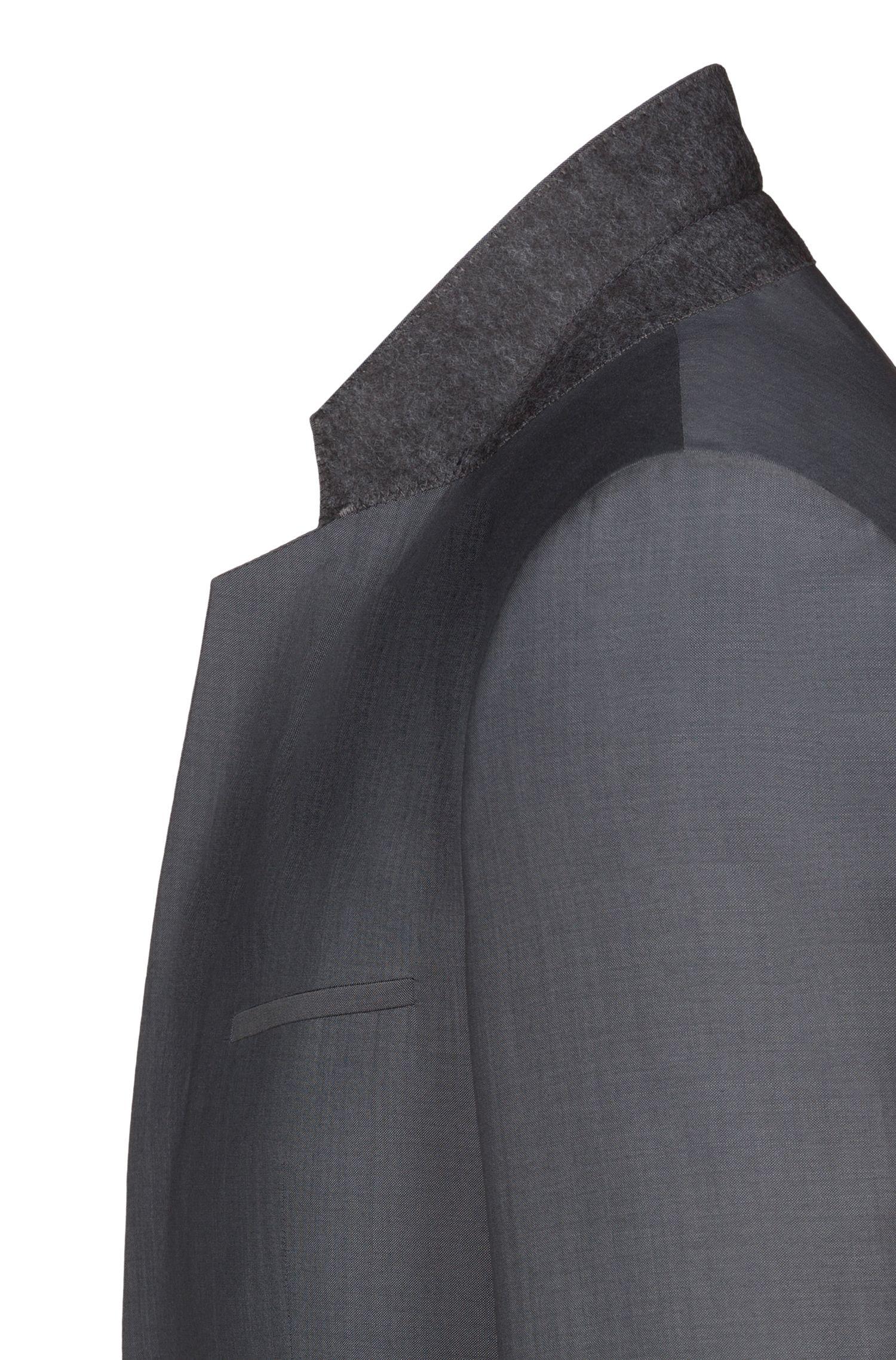 Costume trois pièces Extra Slim Fit en laine texturée, Gris