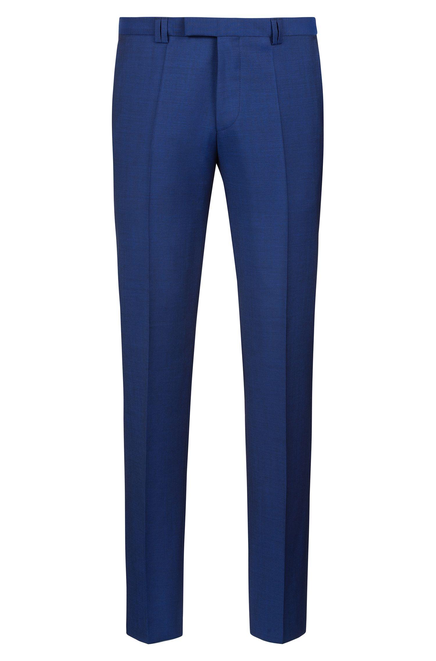 Abito con gilet extra slim fit in lana testurizzata, Blu