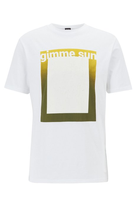 T-shirt relaxed fit in cotone ecologico recot²®, Bianco