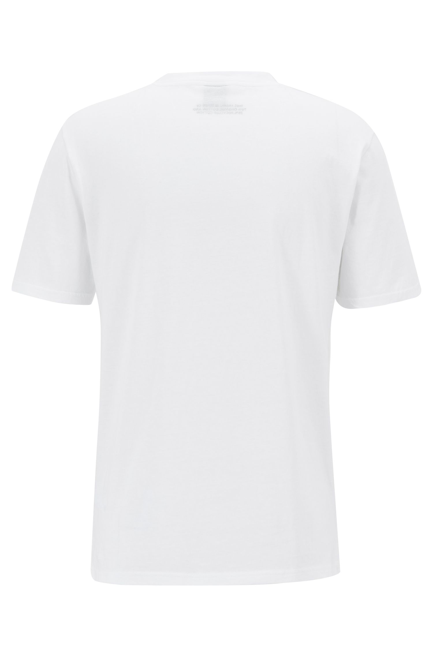 Relaxed-fit T-shirt in eco-friendly recot²® cotton, White