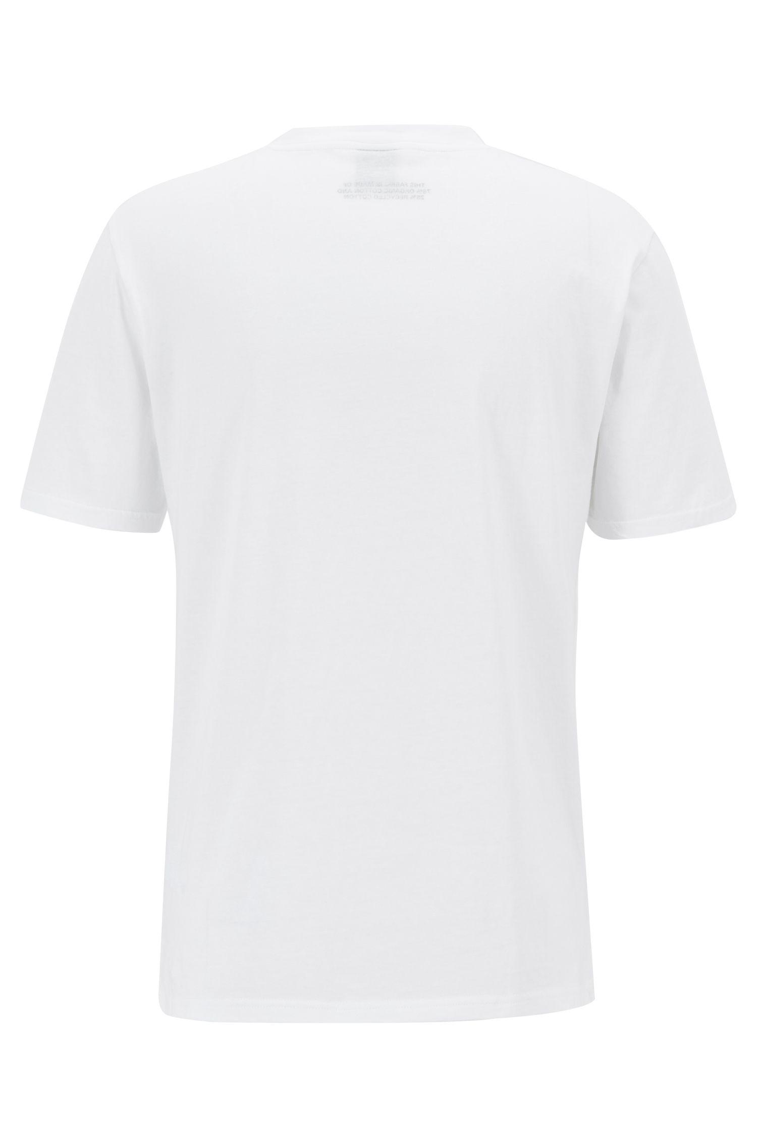 Relaxed-fit T-shirt van ecovriendelijke recot²®-katoen, Wit