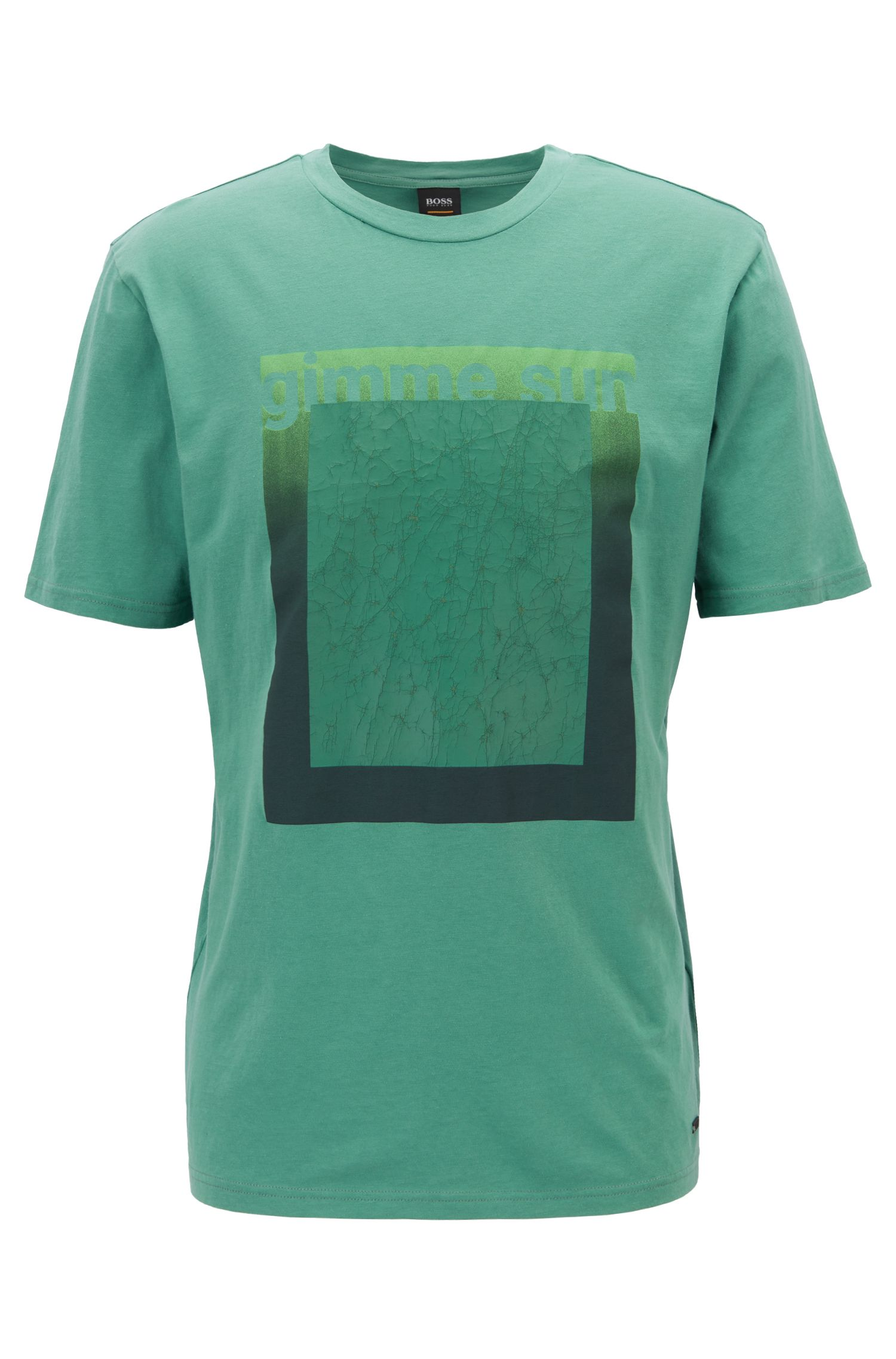 Relaxed-fit T-shirt in eco-friendly recot²® cotton, Green