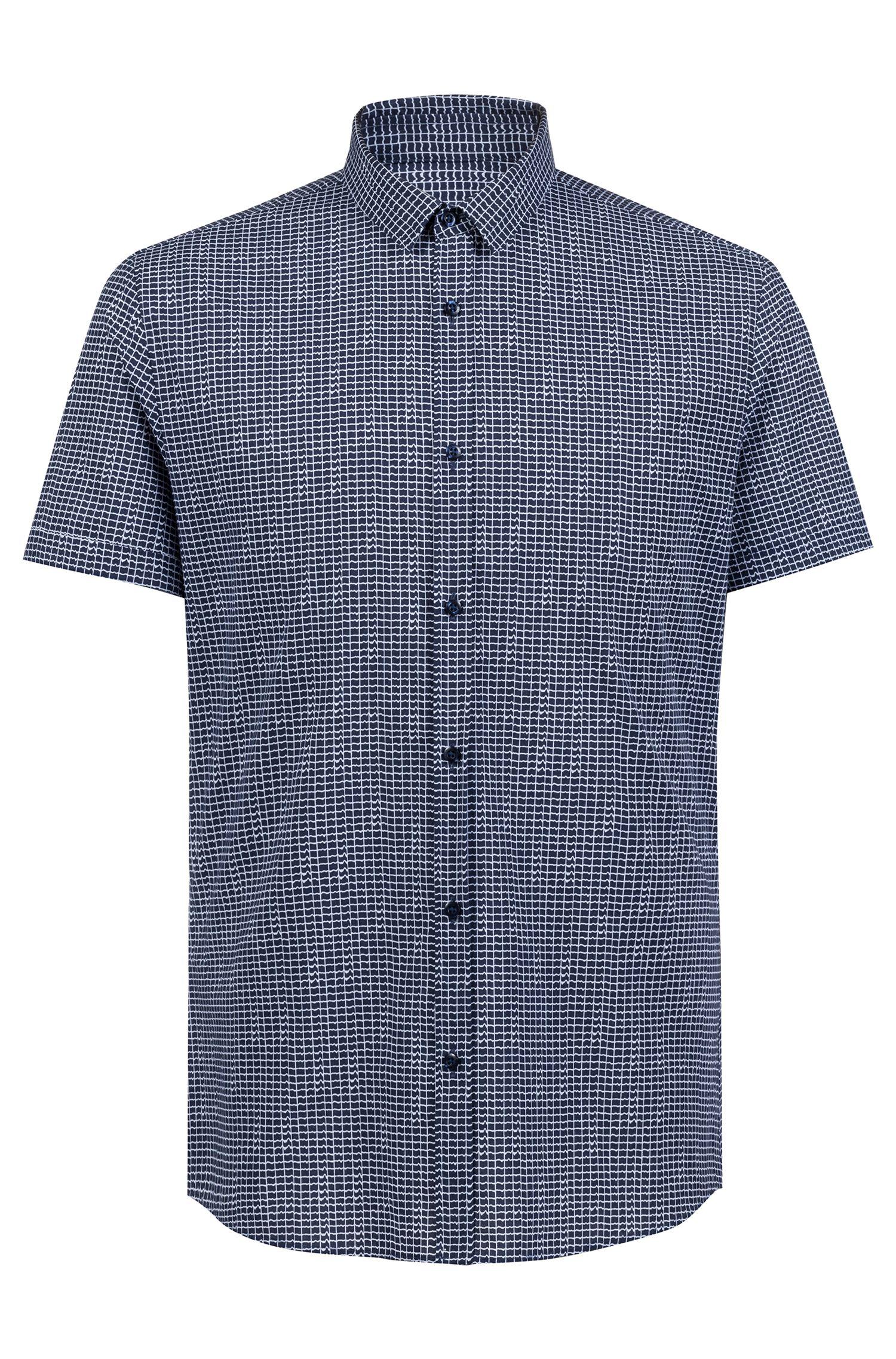 Hugo Boss - Camisa extra slim fit en algodón con estampado integral - 1