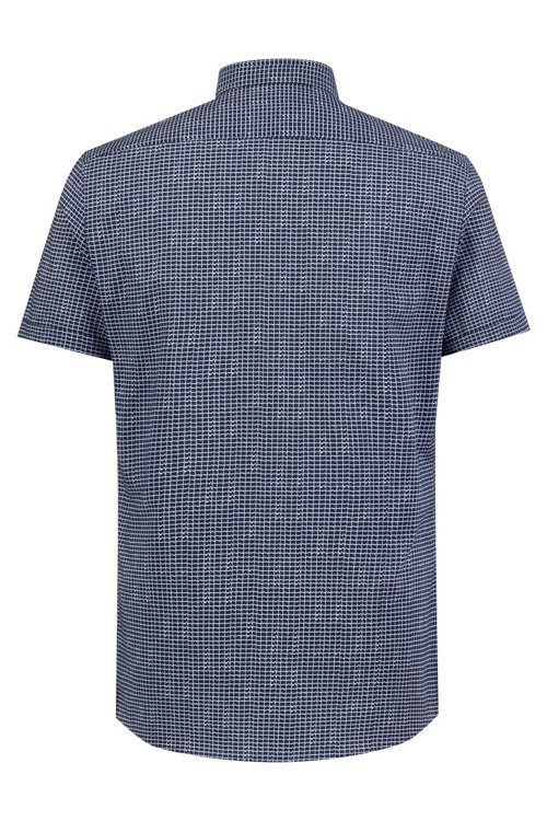 Hugo Boss - Extra Slim-Fit Hemd aus Baumwolle mit Allover-Print - 4