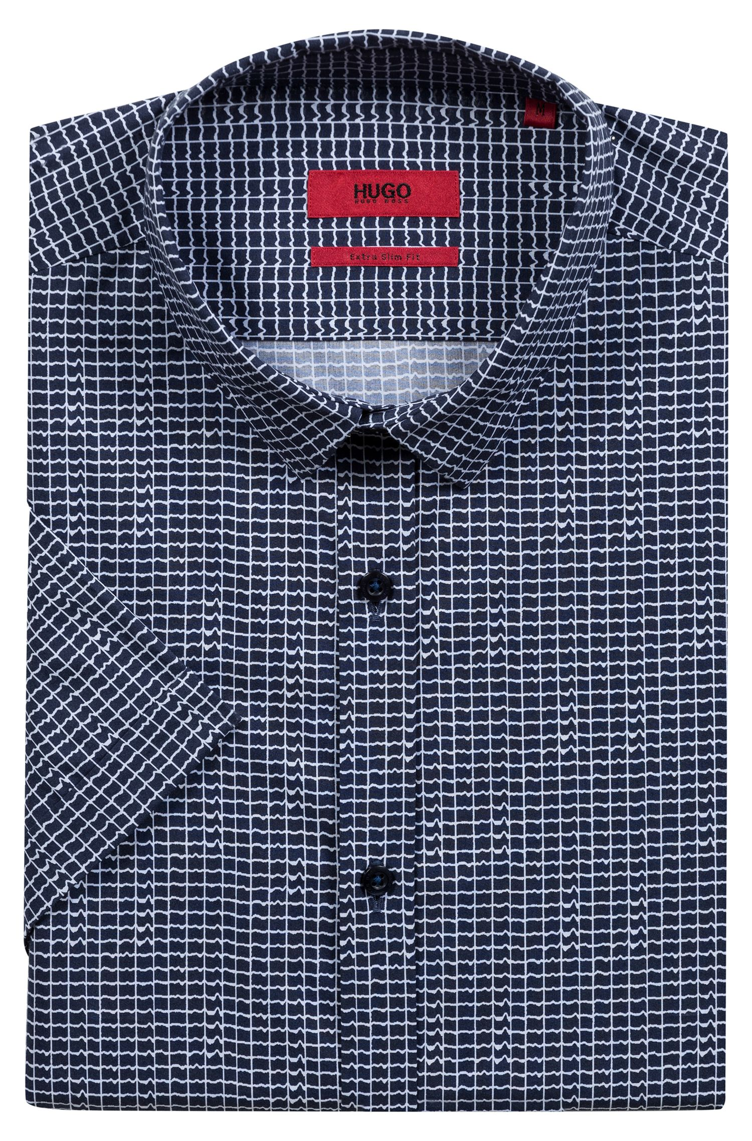 Hugo Boss - Camisa extra slim fit en algodón con estampado integral - 5