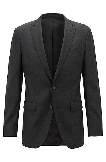 男士商务休闲长袖夹克西服外套,  001_黑色