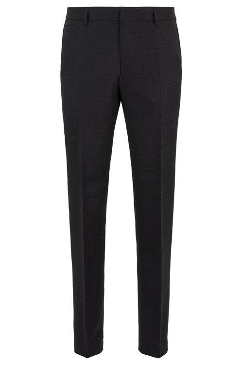 Hugo Boss - Micro-patterned slim-fit trousers in virgin wool - 1