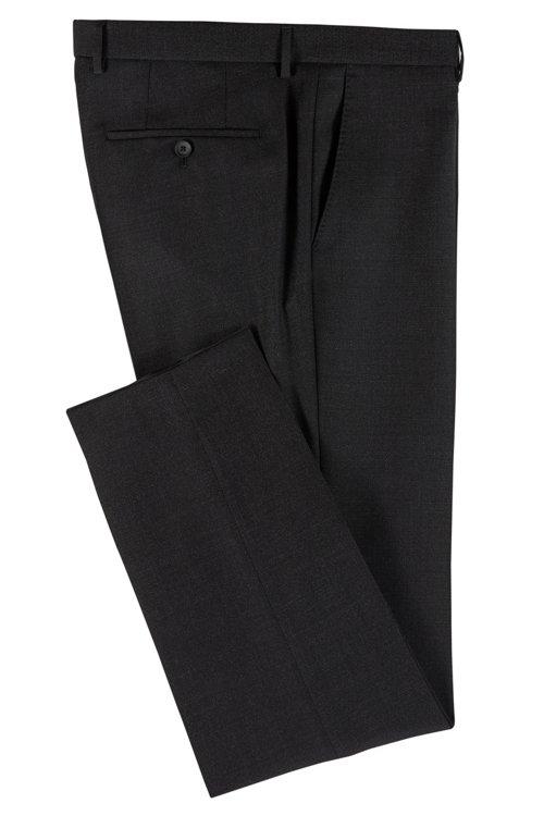 Hugo Boss - Micro-patterned slim-fit trousers in virgin wool - 3