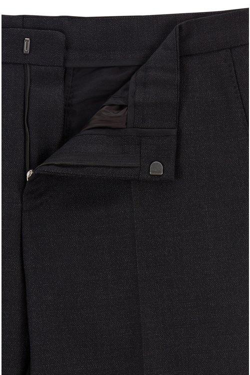 Hugo Boss - Micro-patterned slim-fit trousers in virgin wool - 5