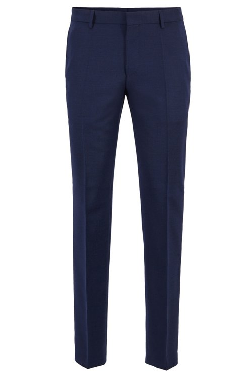 Hugo Boss - Micro-patterned slim-fit trousers in virgin wool - 1