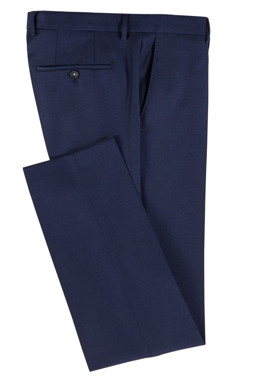 Hugo Boss - Micro-patterned slim-fit trousers in virgin wool - 3