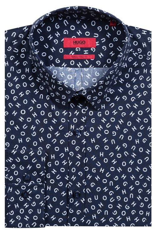 Hugo Boss - Camisa extra slim fit con logo deconstruido estampado - 5