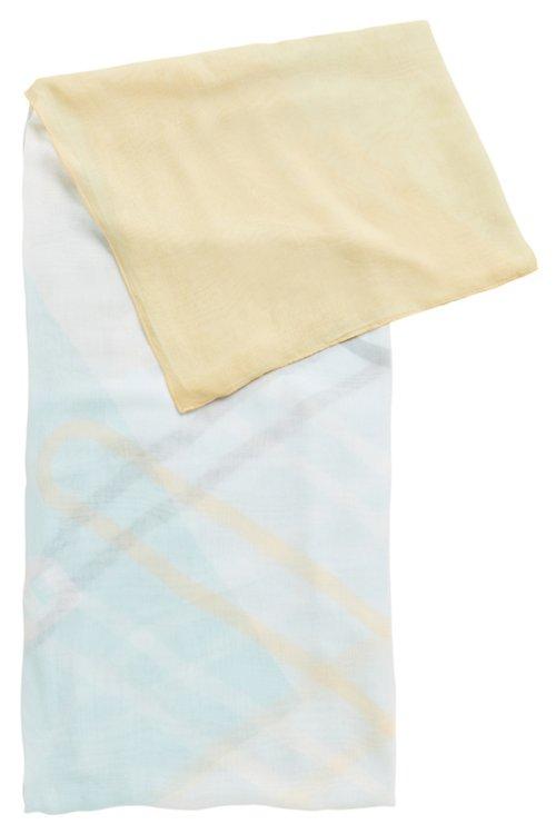 Hugo Boss - Pañuelo cuadrado extragrande con estampado multicolor - 1