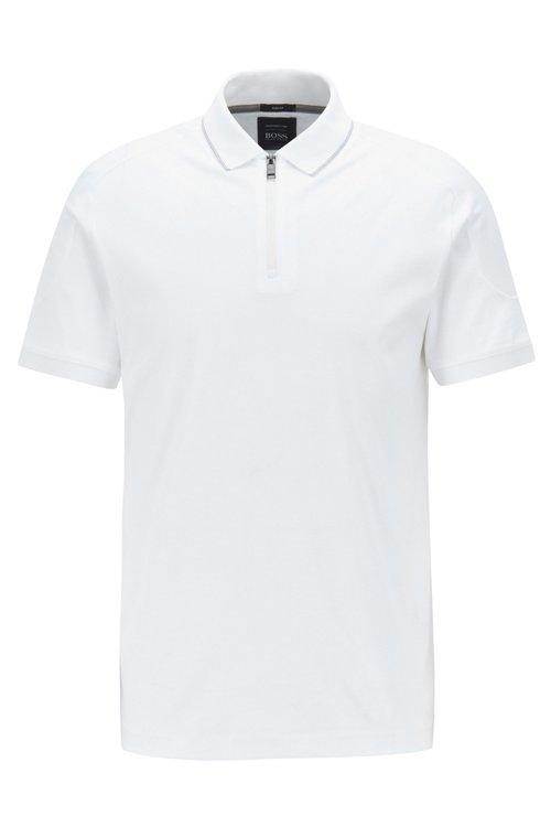 Hugo Boss - Polo slim fit de algodón con cremallera en el cuello - 1