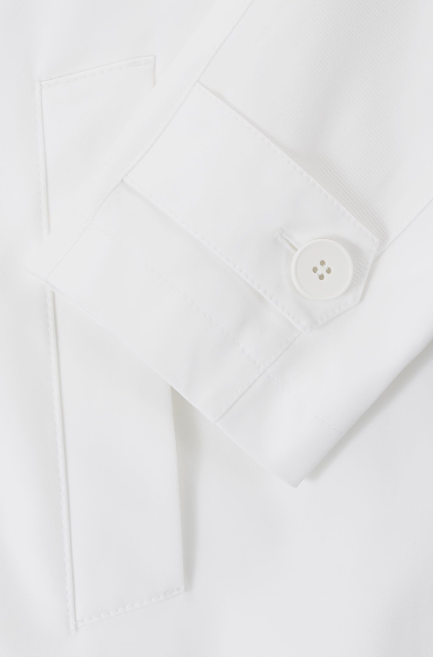 Relaxed-Fit Trenchcoat mit Taillengürtel, Weiß