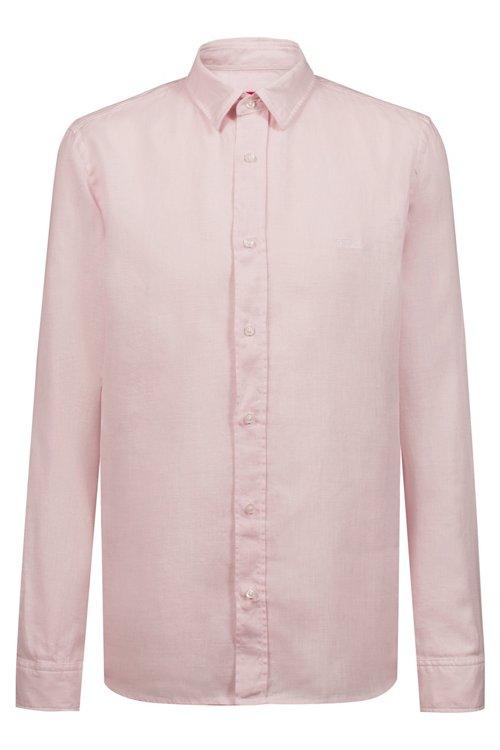 Hugo Boss - Relaxed-Fit Hemd aus Leinen mit spiegelverkehrtem Logo - 1