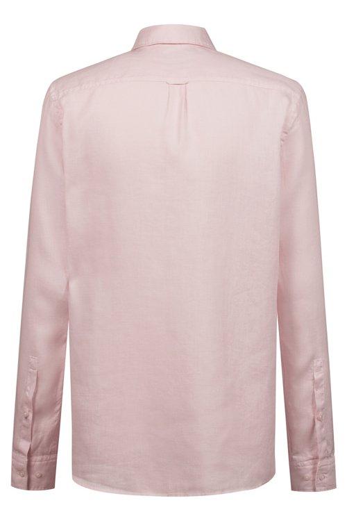 Hugo Boss - Relaxed-Fit Hemd aus Leinen mit spiegelverkehrtem Logo - 4