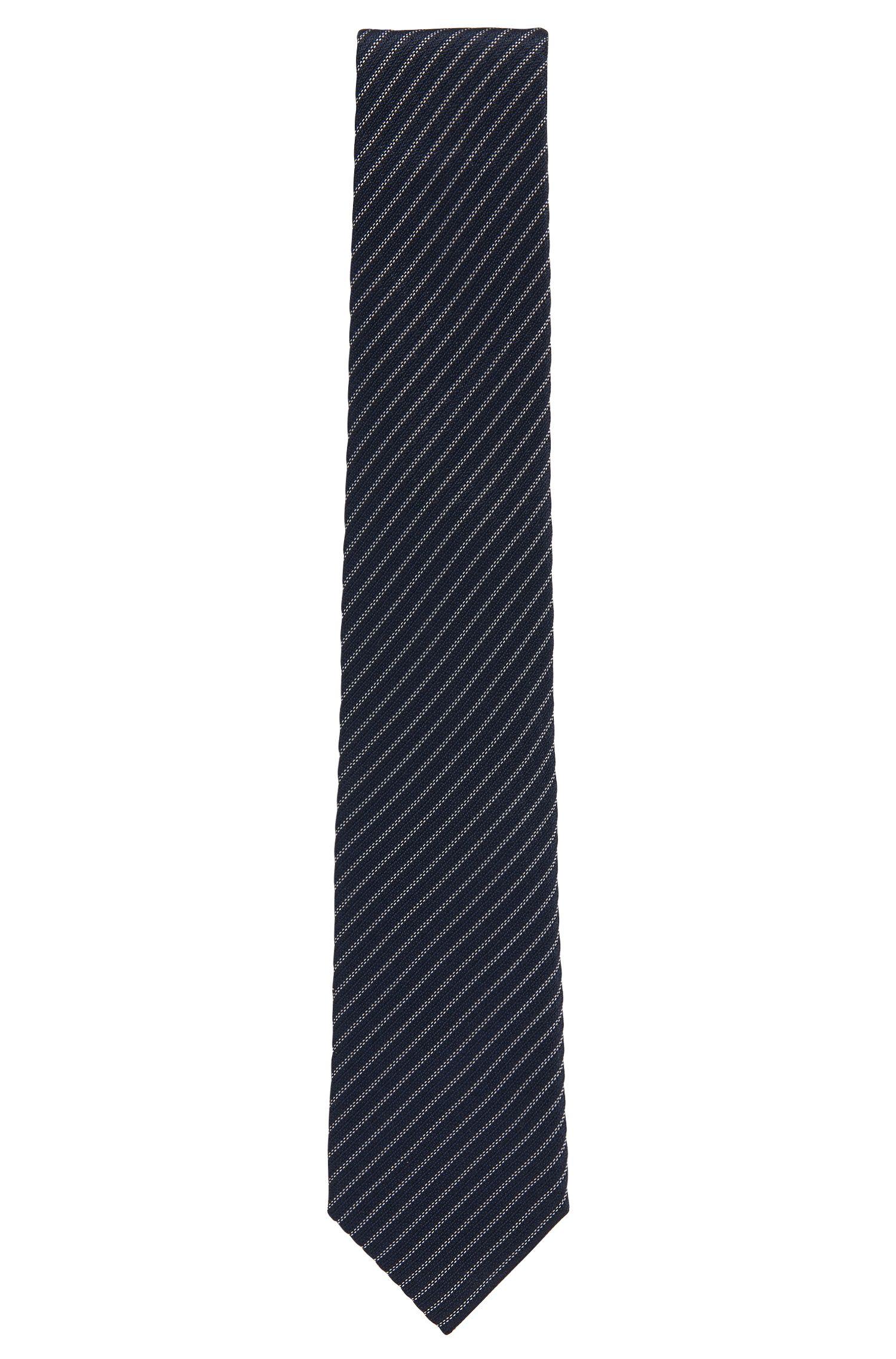 Limited-edition zijden stropdas met Real Madrid-krijtstreep, Donkerblauw