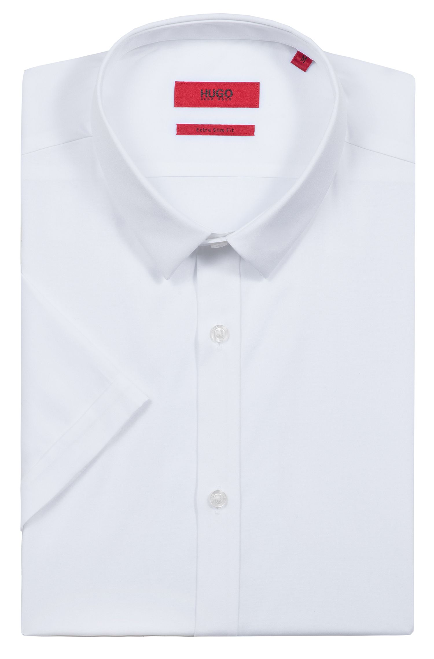 Extra-slim-fit shirt in cotton poplin , White
