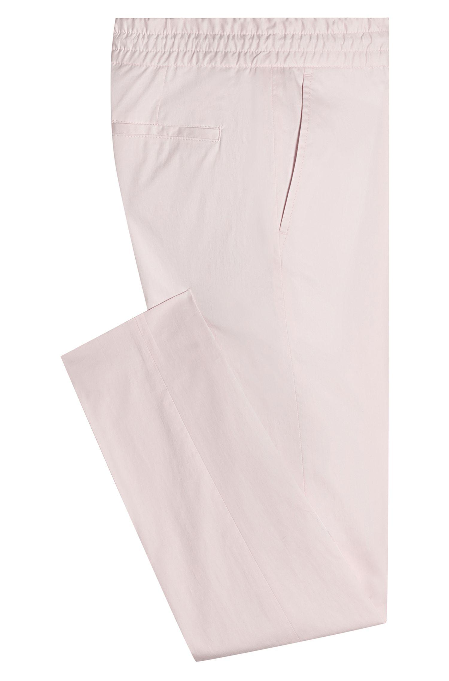 Tapered-Fit Hose aus Stretch-Baumwolle mit Tunnelzugbund, Hellrosa