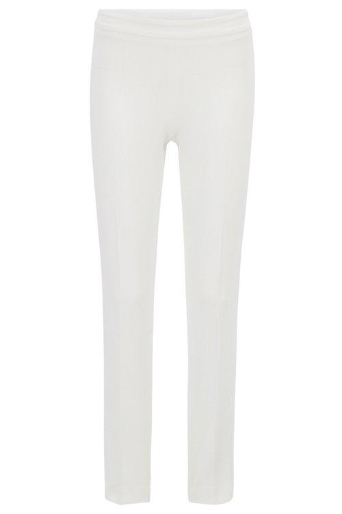 Hugo Boss - Slim-leg cropped trousers in Portuguese stretch fabric - 1
