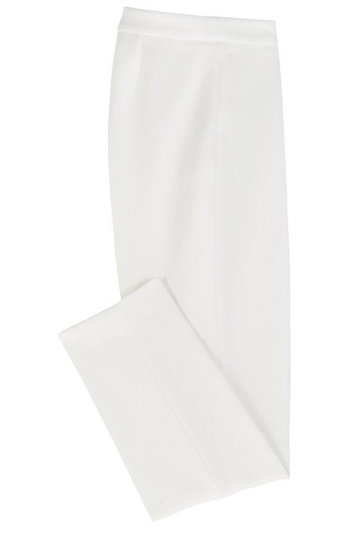 Hugo Boss - Slim-leg cropped trousers in Portuguese stretch fabric - 4