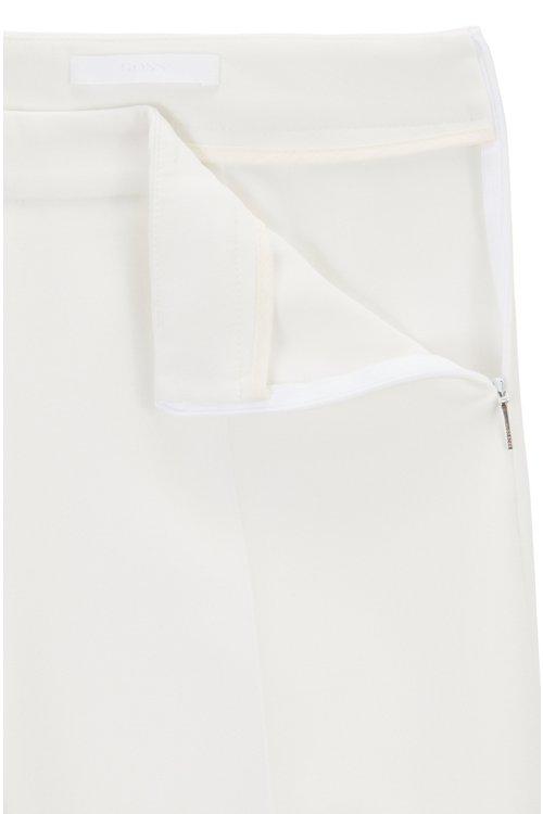 Hugo Boss - Slim-leg cropped trousers in Portuguese stretch fabric - 6
