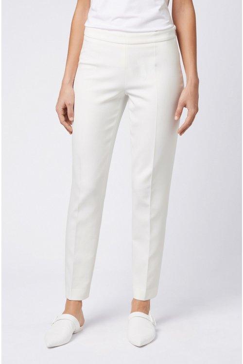 Hugo Boss - Slim-leg cropped trousers in Portuguese stretch fabric - 3