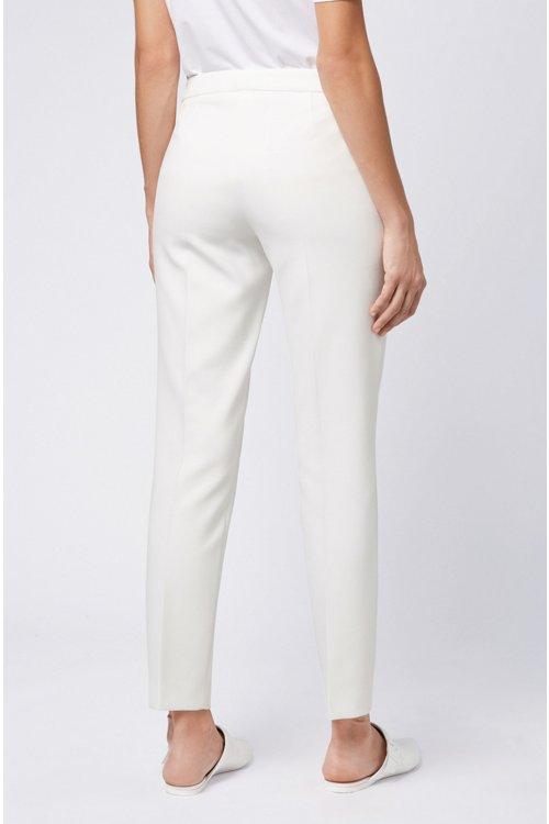 Hugo Boss - Slim-leg cropped trousers in Portuguese stretch fabric - 5