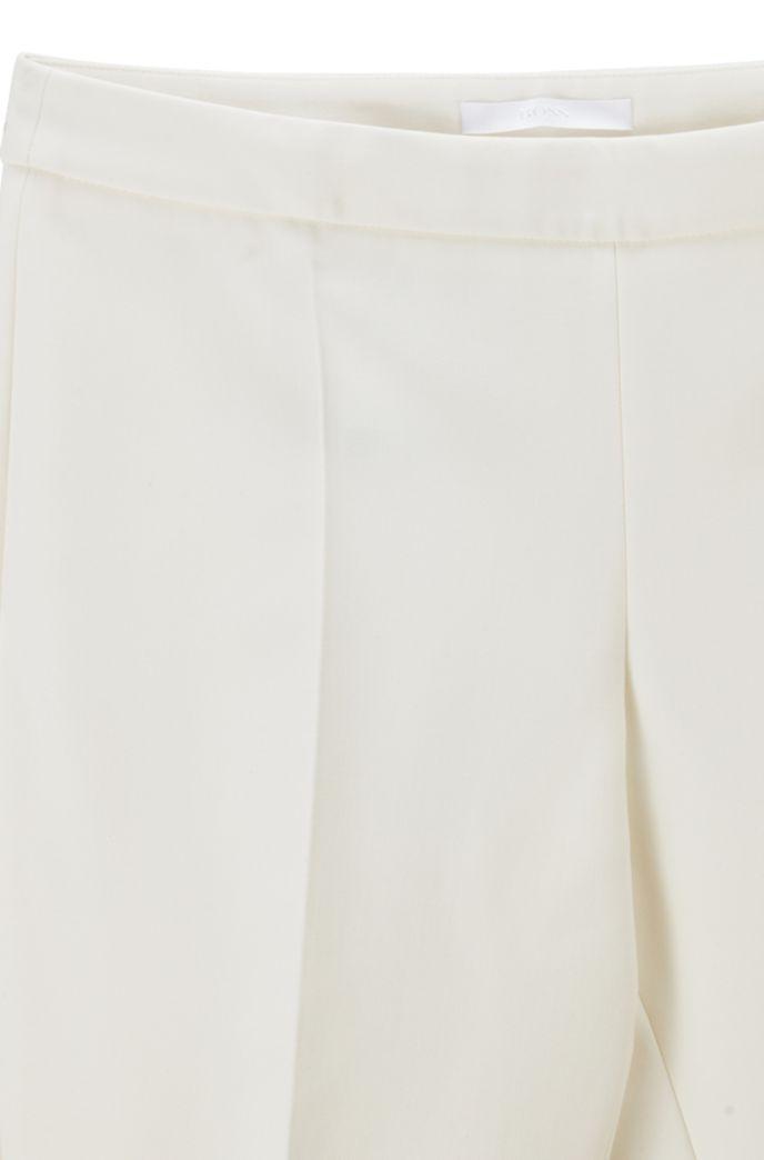 Slim-leg cropped trousers in Portuguese stretch fabric