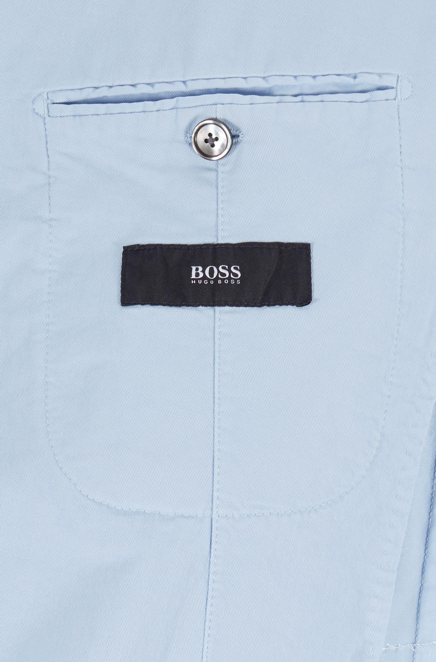 Slim-fit jacket in a cotton blend, Light Blue