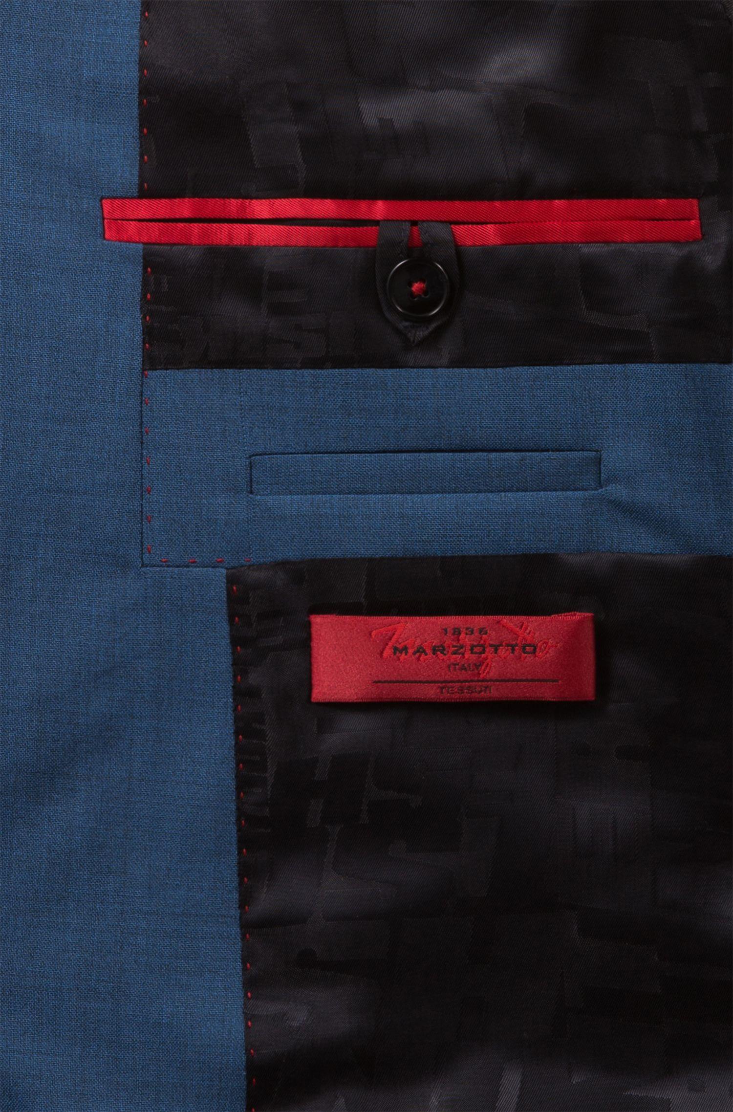 Abito extra slim fit in lana vergine con effetto sovratinto, Blu