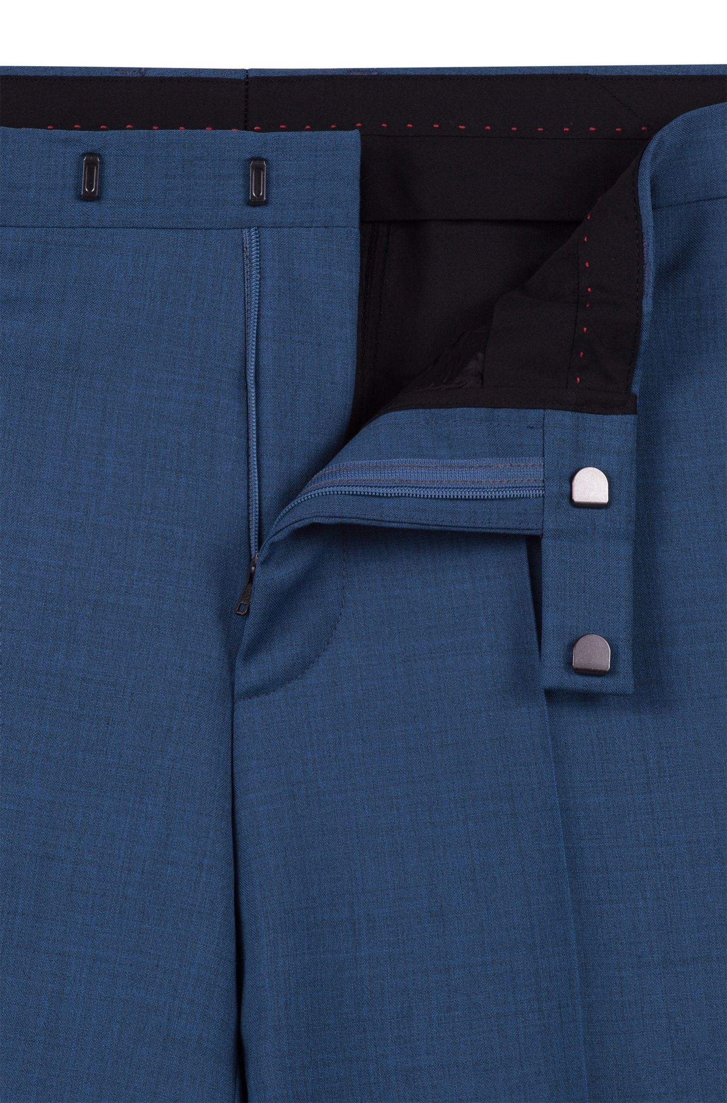 Extra Slim-Fit Anzug aus überfärbter Schurwolle, Blau