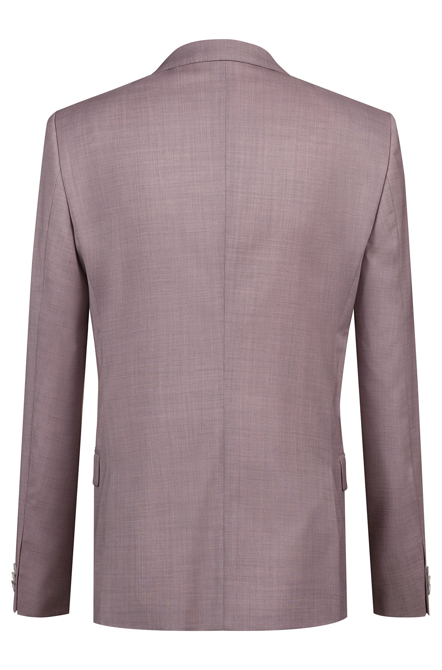 Extra-slim-fit virgin-wool suit with overdyed effect, light pink