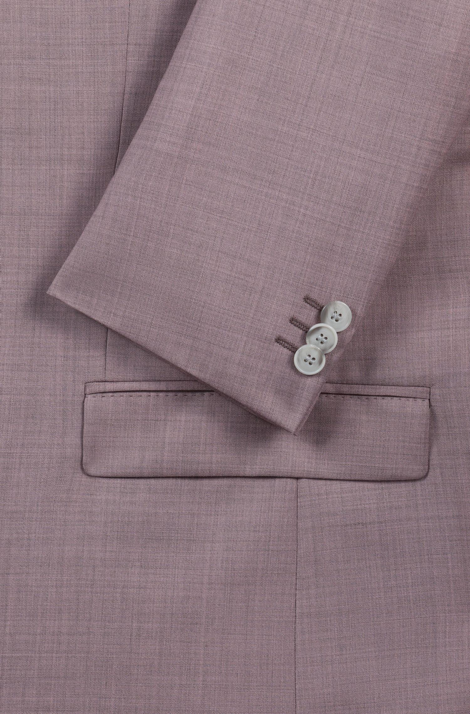 Abito extra slim fit in lana vergine con effetto sovratinto, Rosa chiaro