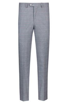 Tapered-fit broek met driekleurig ruitdessin, Bedrukt