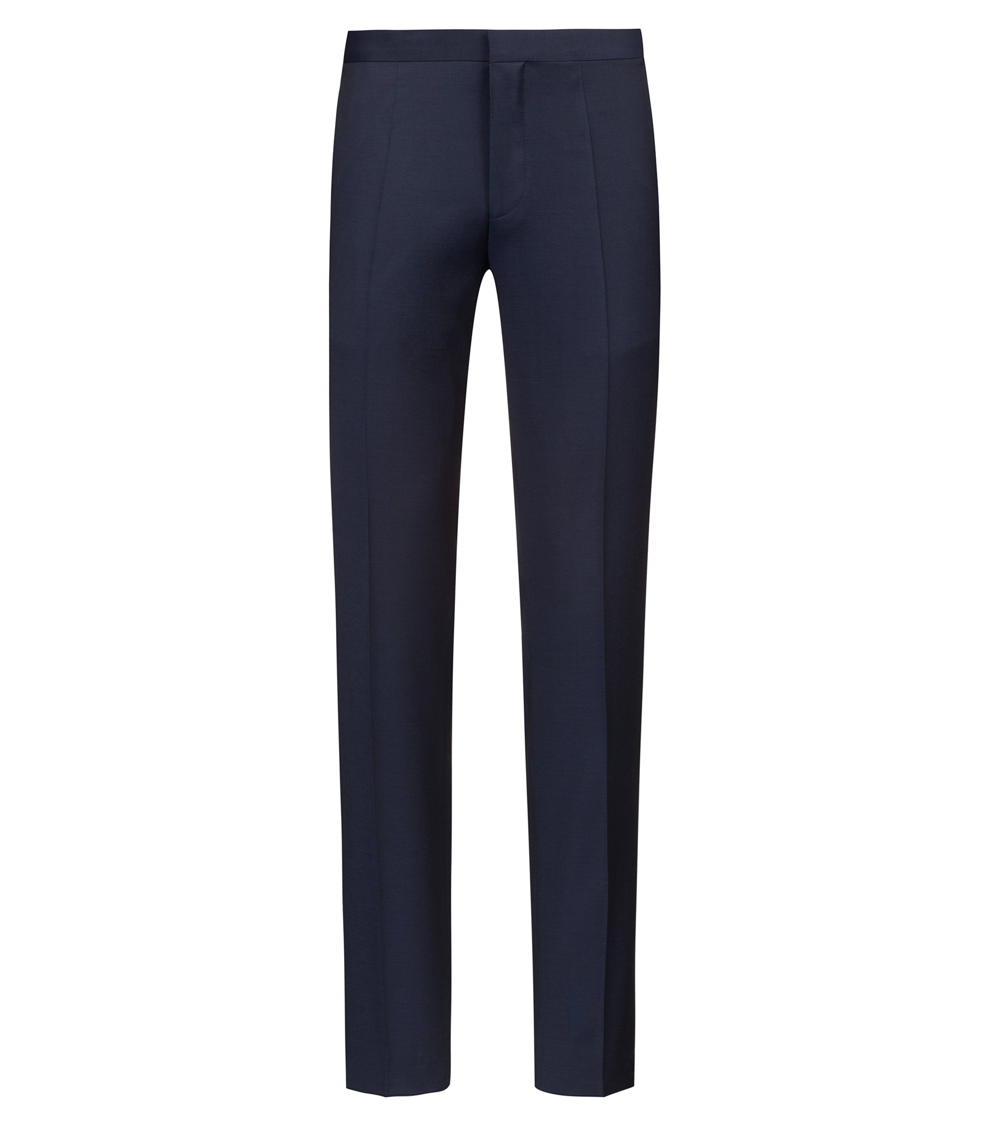 Pantalon Extra Slim Fit en twill de laine vierge de la collection capsule Bits & Bytes, Bleu foncé